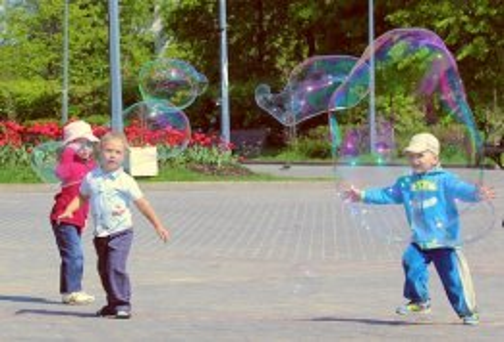 ФЕНСИ БАБЛС, благотворительность, шоу мыльных пузырей, парк Перово